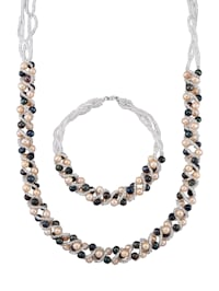 Parure de bijoux 2 pièces avec perles de culture d'eau douce