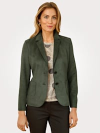 Blazer made from faux suede