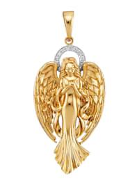 Engel-Anhänger mit 10 Diamanten