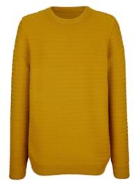 Pullover mit Strickmuster rundum