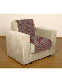 Sesselschoner Sitzflächenschoner Wolle Noppen ca. 175 x 47 cm silber