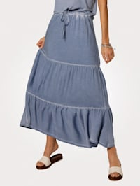 Jersey rok in trendy oil dyed look