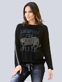Shirt mit modischem Print im Vorderteil