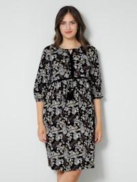 Klänning med småblommigt mönster