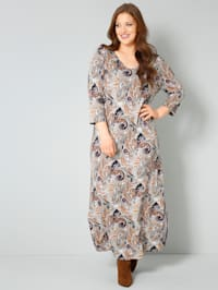 Jersey jurk met paisleyprint allover