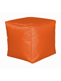 Sitzwürfel Hocker Sitzkissen Nylon orange 40x40x40 cm