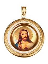 Christus-Anhänger in Gelbgold 375