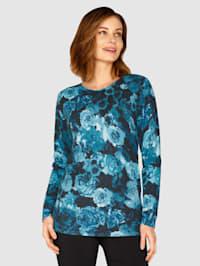 Pullover mit Rosendruck