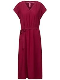 Midi Kleid in Unifarbe