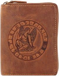 Vintage Sternzeichen Geldbörse Leder 10 cm