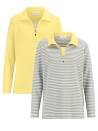Sweatshirt unifarben und gestreift