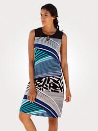 Robe de plage à imprimé rayé tendance