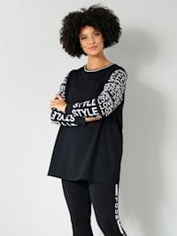 Sweatshirt mit bedruckten Ärmeln