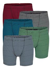 Boxerky s proužky z barvených vláken