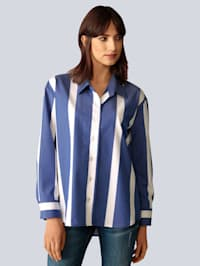 Bluse mit breiten Streifen
