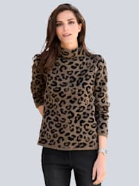Pull-over à motif léopard tendance
