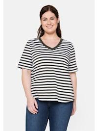 T-Shirt mit verlängertem Kurzarm