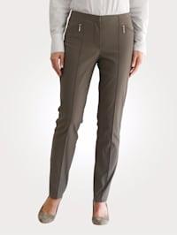 Nohavice s vreckami na zips