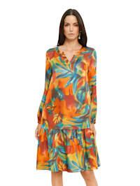 Kleid mit allover Druck