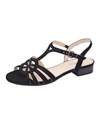 Sandale mit Strasssteinchen