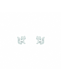 Damen Silberschmuck 925 Silber Ohrringe / Ohrstecker Katze