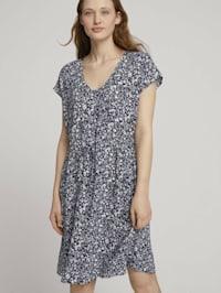 Mini-Kleid mit LENZING(TM) ECOVERO(TM) und Rückendetail