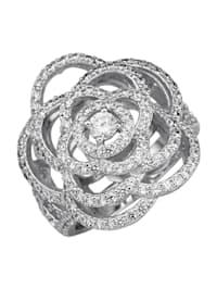 Ring i sølv 925, rhodinert