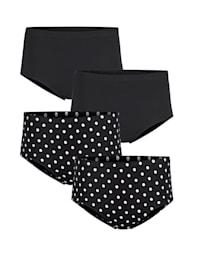 Nohavičky - 4 ks s potlačou bodiek a uni