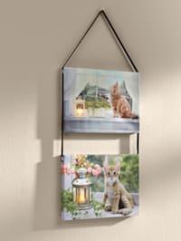 LED 2er Set Bilder mit Katze