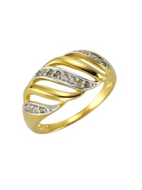 Ring 925/- Sterling Silber Diamant 0,18ct. 925/- Sterling Silber Diamant weiß Diamant Glänzend 925/- Sterling Silber