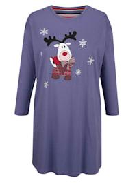 Nočná košeľa so zimnou potlačou