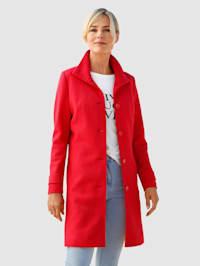Mantel mit hohem Stehkragen