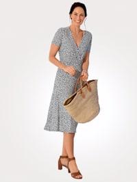 Jerseykleid in Wickeloptik