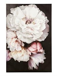 Motif sur toile 'fleurs'