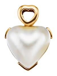 Pendentif cœur avec perle de culture Mabé