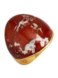 Damenring mit rotem Jaspis (beh.)