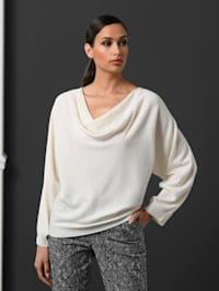 Pullover mit Spitzen-Einsatz
