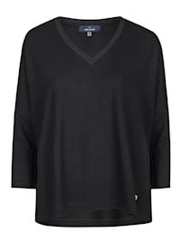 Modischer Pullover mit V-Ausschnitt