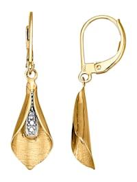 Boucles d'oreilles avec diamants