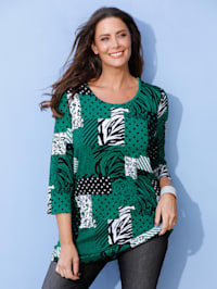 Shirt met patchworkdessin