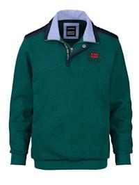 Sweatshirt met luxueuze kraag