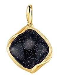 Hänge med 1 gold stone (beh.)