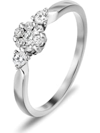 CHRIST Damen-Damenring 9 Diamant