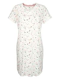 Nachthemd mit modischen Ärmelaufschlägen