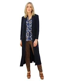 Tričkový kabátek v dlouhém střihu