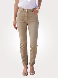 Jeans mit dekorativem Zierstrassband