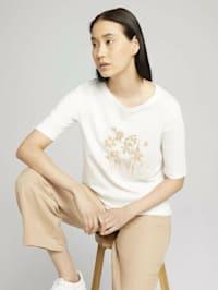 Halbarm Print Shirt mit Bio-Baumwolle