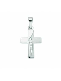 1001 Diamonds Damen & Herren Silberschmuck 925 Silber Kreuz Anhänger mit Zirkonia