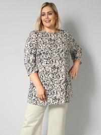 Tunika-Bluse leicht tailliert geschnitten