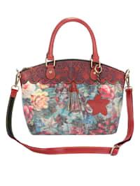 Handväska med härligt blommönster